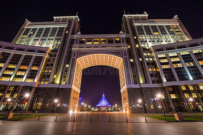 Główny budynek Samruk-Kazyna JSC w Astana mieście fotografia royalty free