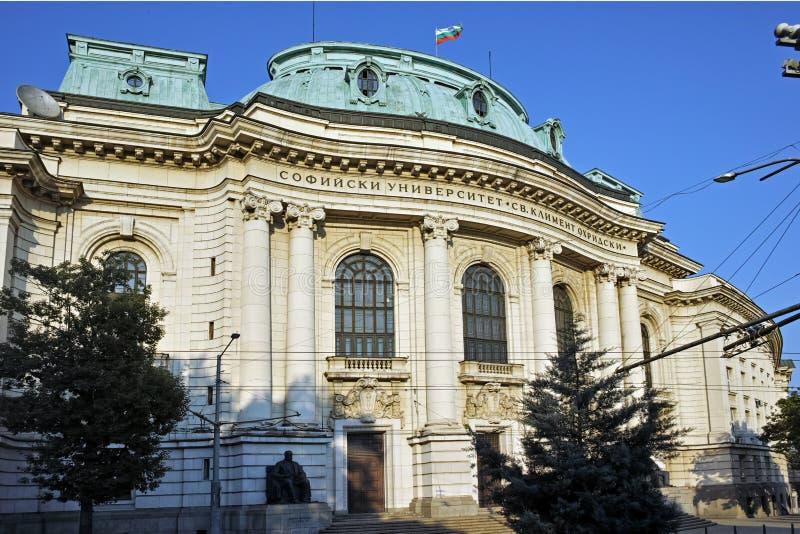 Główny budynek uniwersytet Sofia St Kliment Ohridski, Sofia zdjęcia stock
