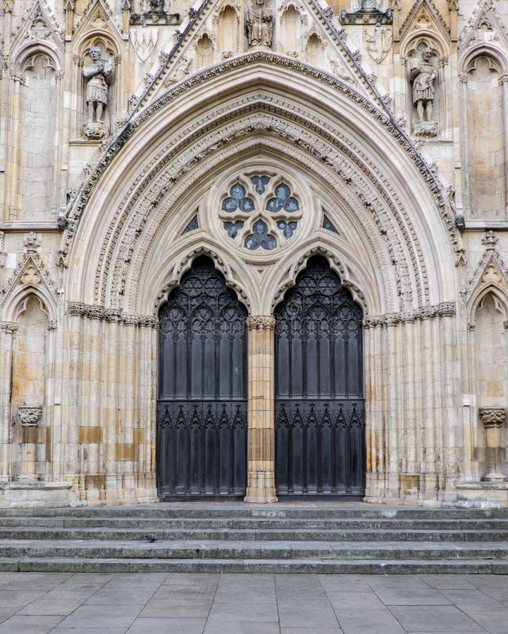 Główny drzwi Jork minister zdjęcia stock