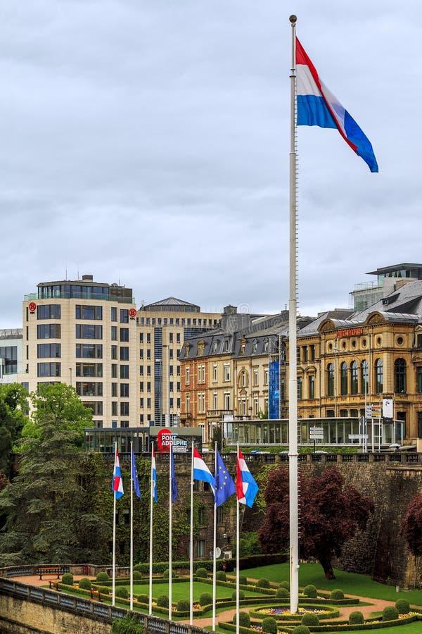 Główny flagpole Luksemburg obraz stock