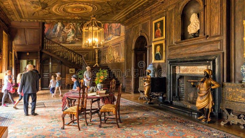 Główny Hall, Hanbury Hall, Worcestershire fotografia stock