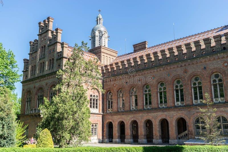 Główny kampusu budynek Chernivtsi obywatela uniwersytet zdjęcia royalty free