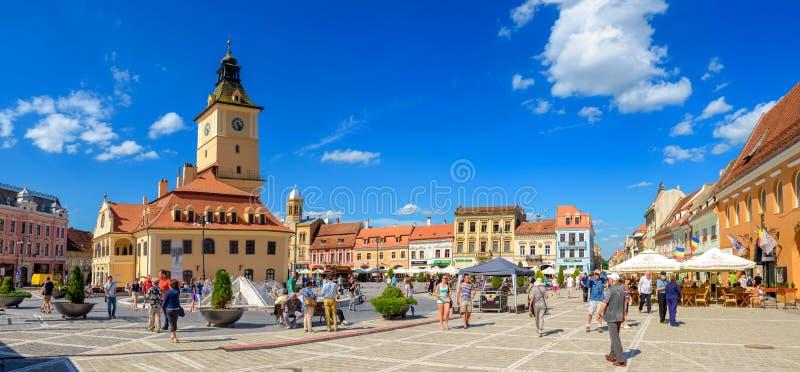 główny plac Brasov zdjęcie stock