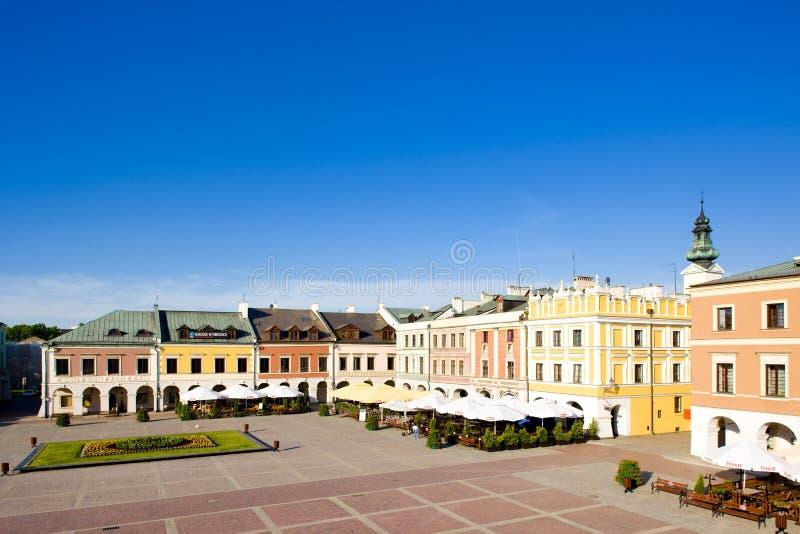 Główny Plac & x28; Rynek Wielki& x29; , Zamojski, Polska obraz royalty free