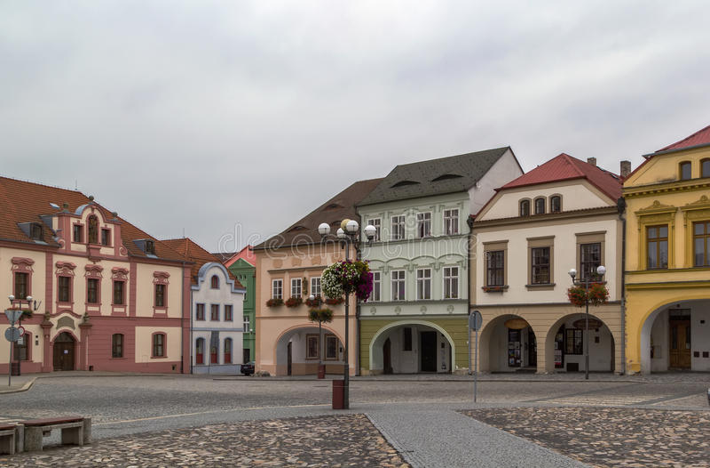 Główny plac w Kadan, republika czech obraz royalty free
