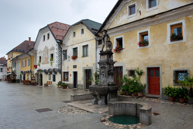 Główny Plac w Radovljica zdjęcia stock