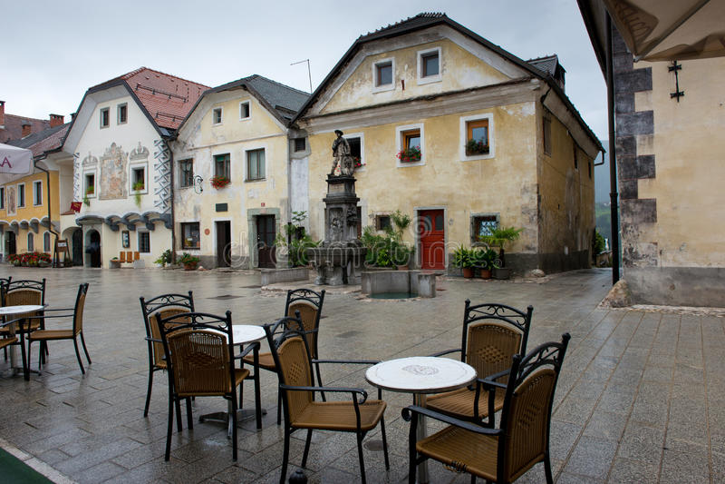 Główny Plac w Radovljica obrazy royalty free