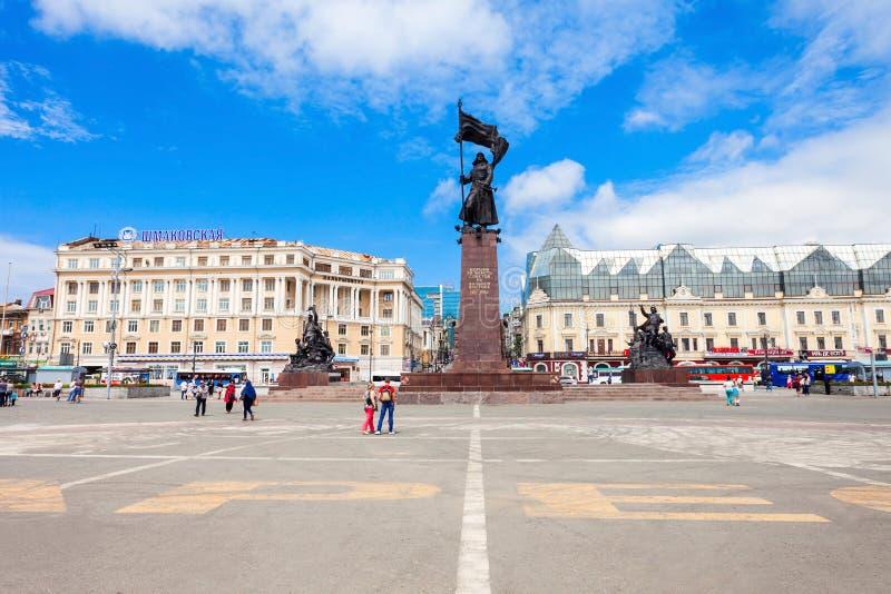 Główny plac w Vladivostok fotografia stock