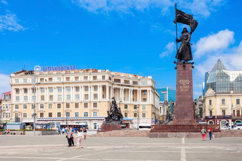 Główny plac w Vladivostok zdjęcia royalty free