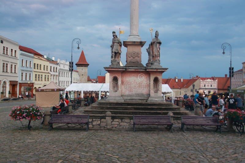 Główny plac w Znojmo zdjęcia royalty free