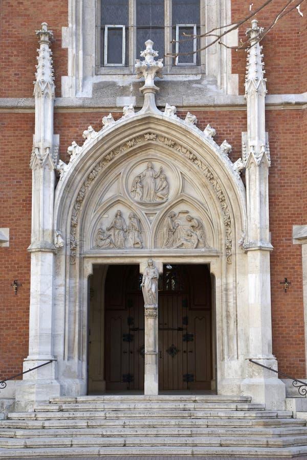 Główny portal St Elisabeth kościół w Wiedeń obraz stock