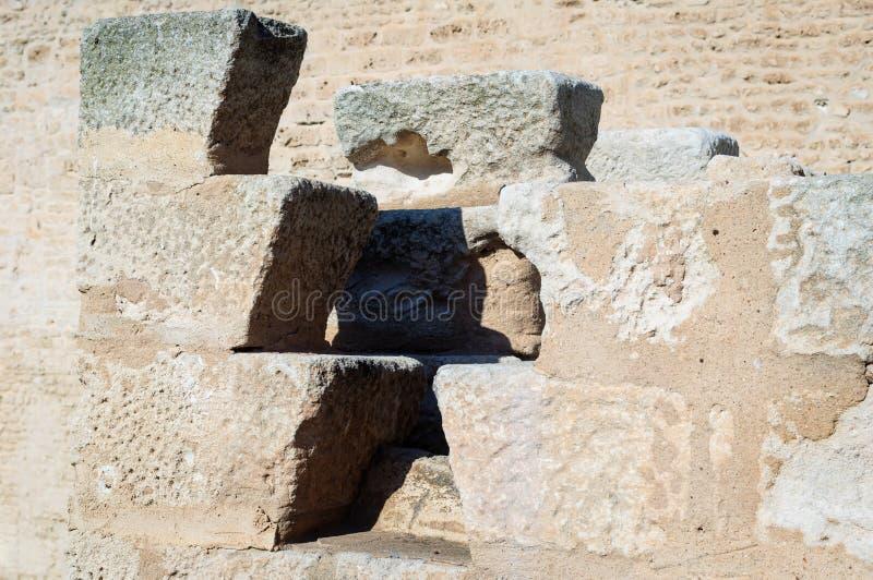 Główny przyciąganie Tunezja jest antycznym miastem Carthage obrazy stock