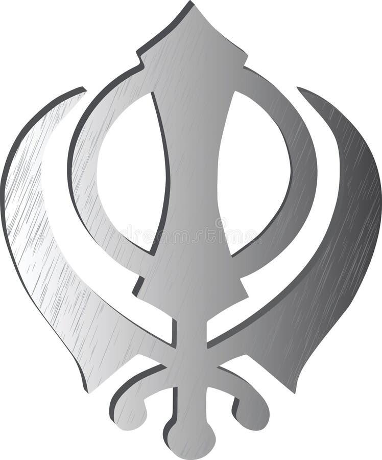 Główny symbol Sikhism jest khanda royalty ilustracja