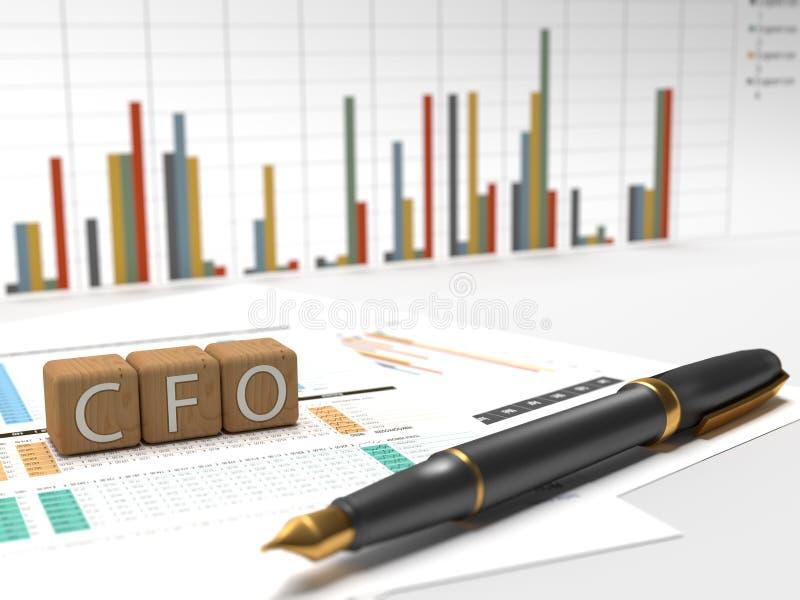 Główy Księgowy - CFO ilustracja wektor