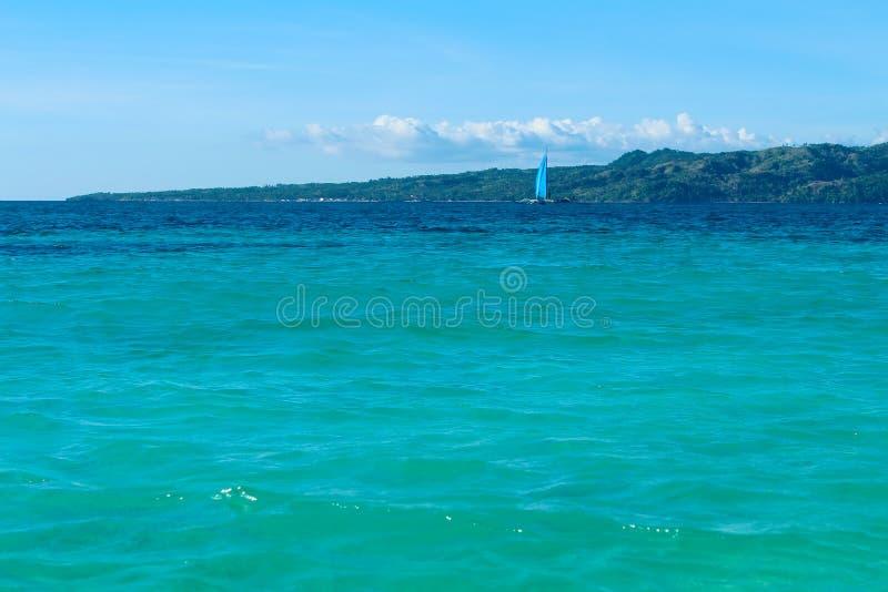 Głąbik i żeglowanie łódź obraz stock