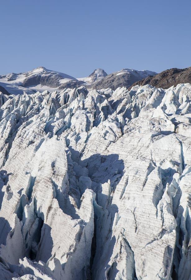 Głębocy lodowów Crevasses zdjęcia stock