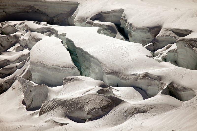 Głębocy lodowów crevasses na Jungfraujoch, Szwajcaria zdjęcia royalty free