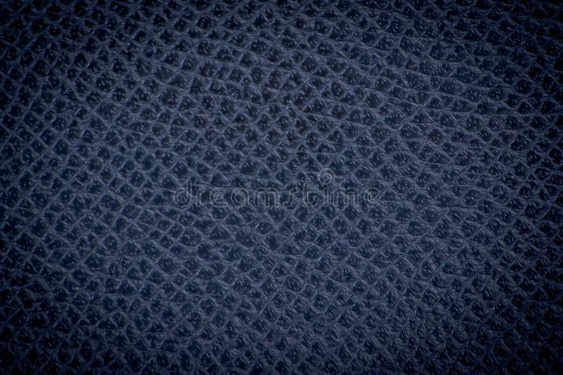 Głęboka błękitna skóry tekstura zdjęcie stock