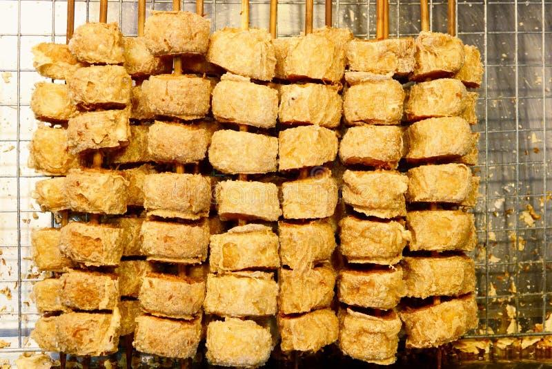 Głęboka pieczony kurczak rolka Jo lub Hoi, Tajlandzki jedzenie fotografia stock