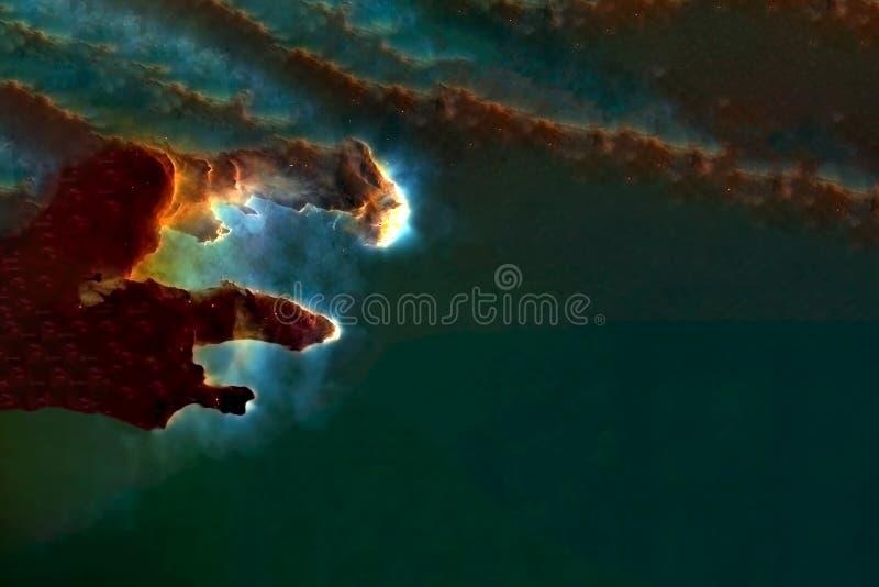 Głęboka przestrzeń, piękna mgławica w postaci filarów Elementy tego obrazu zostały dostarczone przez NASA royalty ilustracja