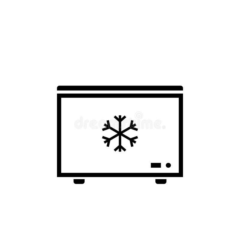 Głęboki - chłodnia konturu ikona ilustracji