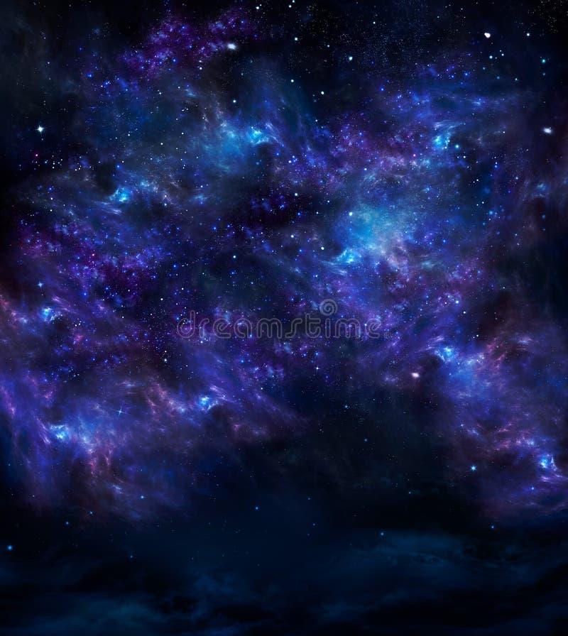 Głęboki kosmos, tło royalty ilustracja