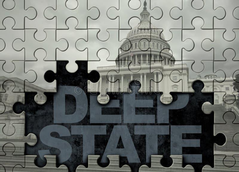 Głębokie stanu amerykanina polityka ilustracji