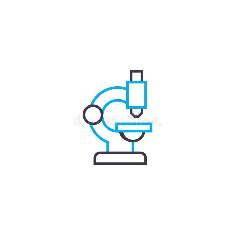 Głębokiego badawczego wektoru uderzenia cienka kreskowa ikona Głęboka badawcza kontur ilustracja, liniowy znak, symbolu pojęcie ilustracji