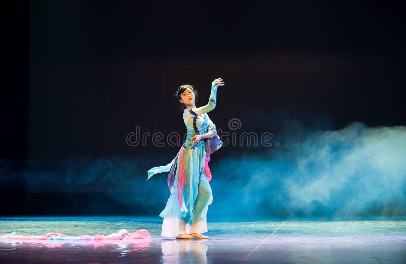 Głębokiego osamotnionego chińczyka klasyczny taniec zdjęcie stock