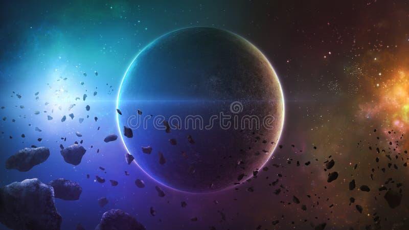 Głębokiej przestrzeni planeta ilustracji