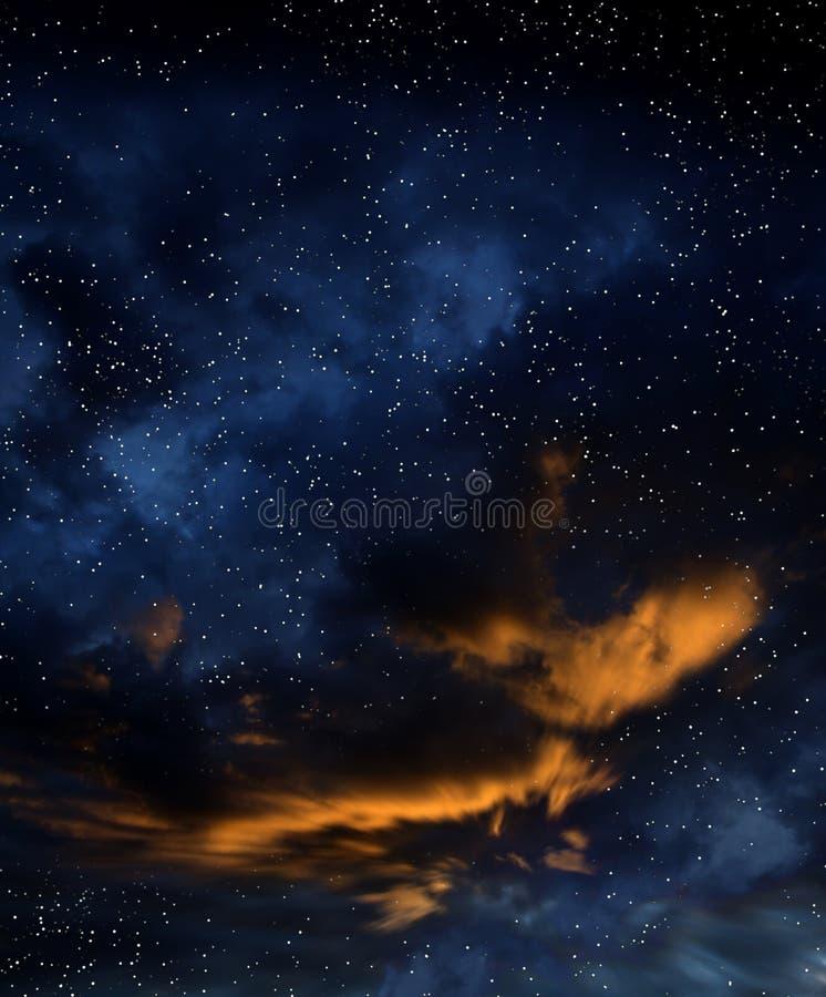 głębokiej przestrzeni starfield ilustracja wektor