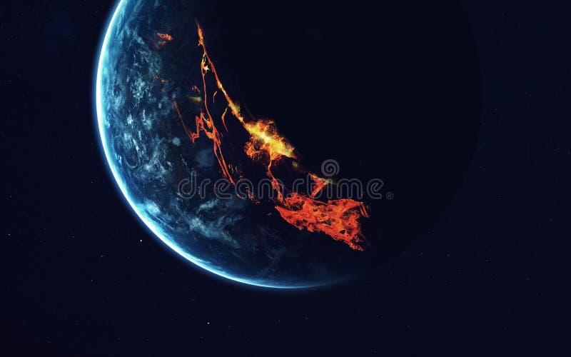 Głębokiej przestrzeni sztuka Wspaniały dla tapety i druku Elementy ten wizerunek meblujący NASA obraz stock