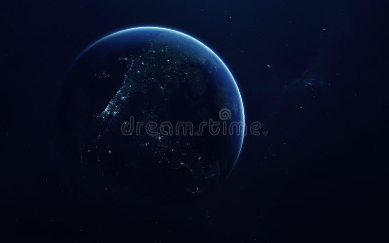 G??bokiej przestrzeni wyobra?nia, planety, gwiazdy i galaxies w nieko?cz?cy si? wszechrzeczych elementach ten wizerunek mebluj?cy fotografia stock