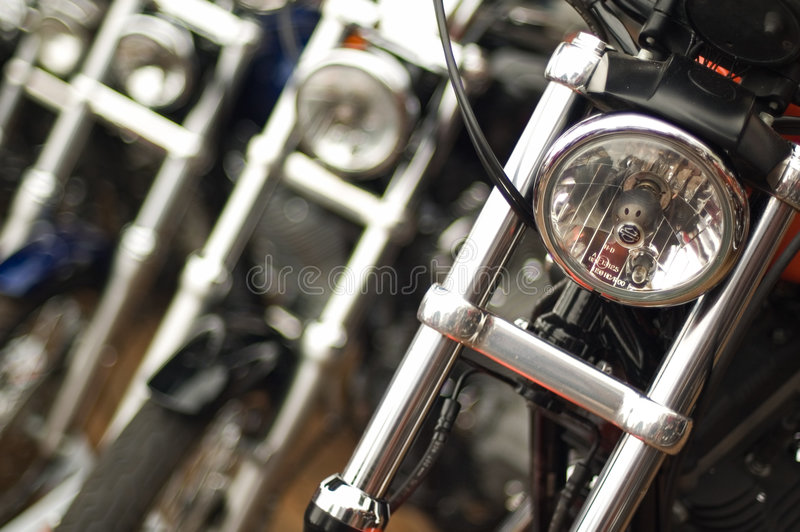 głębokość motocykli pola płytki fotografia stock