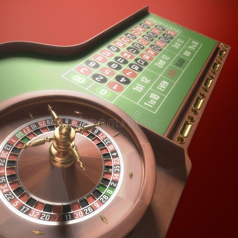 głębokość niskiego rezolucji ruletka gry obrazy stock