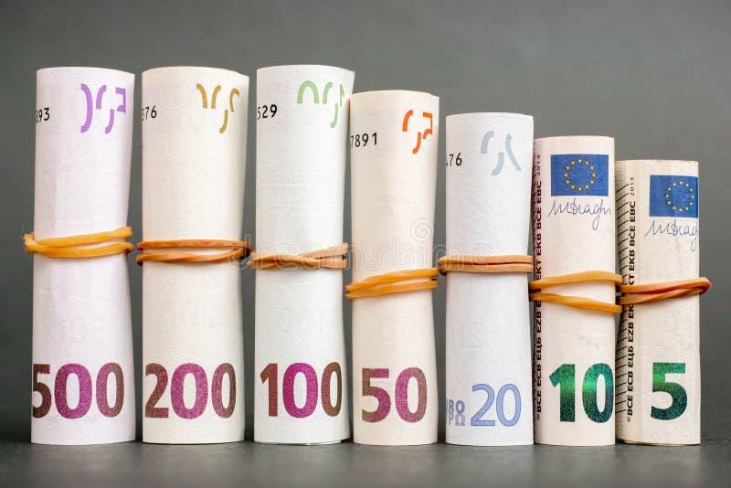głębokość tła euro pola pieniądze krótki zdjęcie royalty free