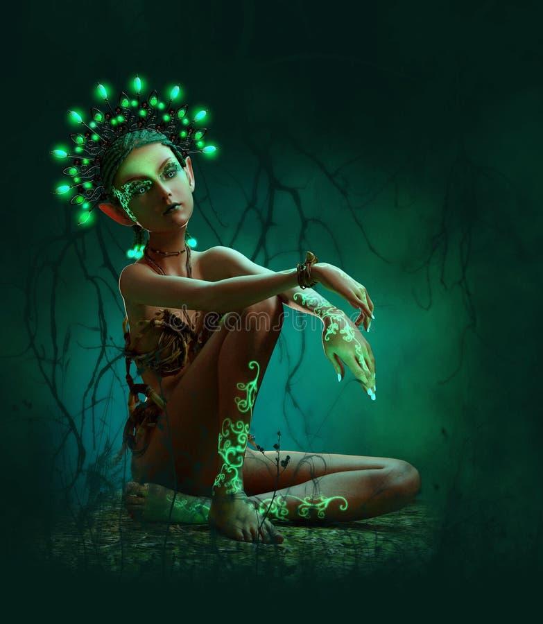 Głęboko w lesie, 3d CG royalty ilustracja