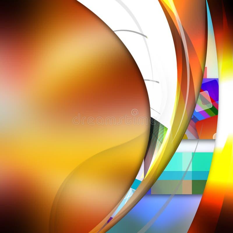 Gładka krzywa wykłada na abstrakcjonistycznym tle ilustracja wektor