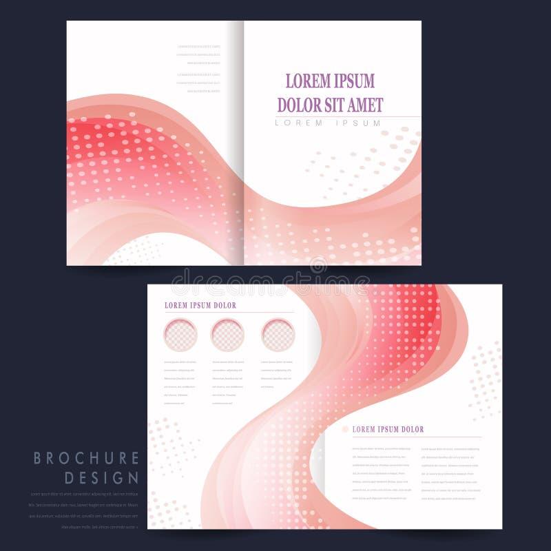 Gładka krzywa wykłada tło broszurki szablon ilustracji