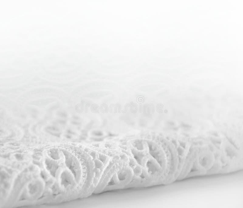Gładki biel koronki tło zdjęcie stock