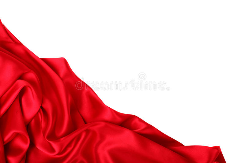 Gładki elegancki czerwony jedwab może używać jako tło zdjęcia royalty free