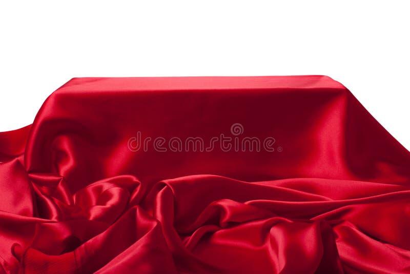 Gładki elegancki czerwony jedwab może używać jako tło zdjęcie royalty free