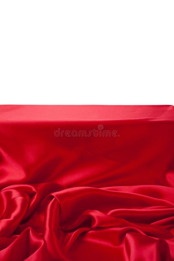 Gładki elegancki czerwony jedwab może używać jako tło obraz stock