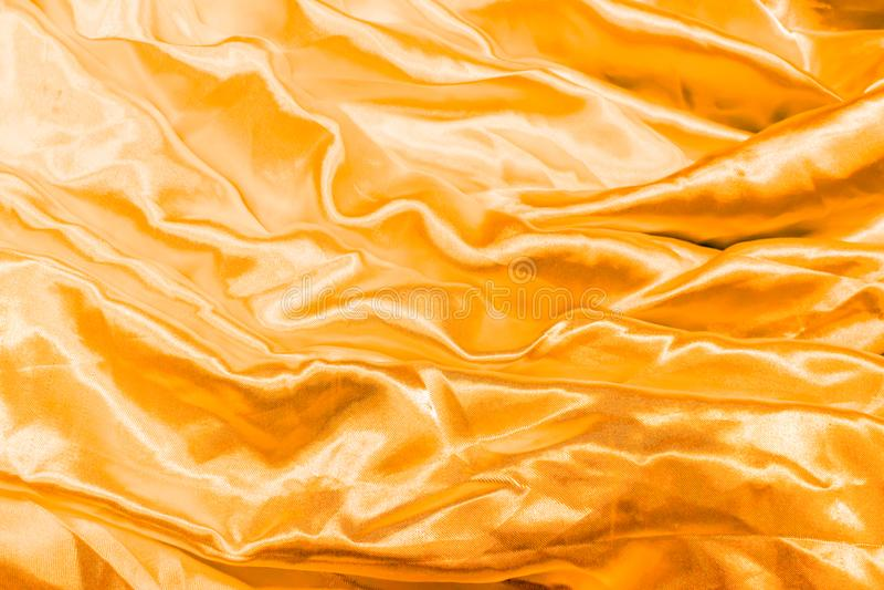 Gładki elegancki złoty jedwab fotografia royalty free