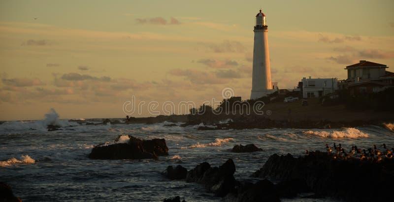 Gładki oświetlenie w latarni morskiej zdjęcia royalty free