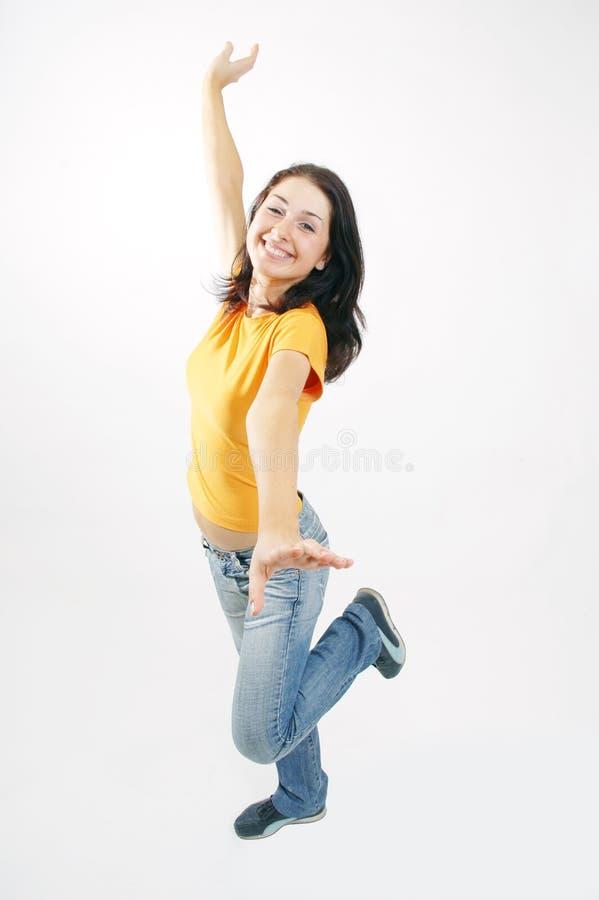 Download Gładkie tańca zdjęcie stock. Obraz złożonej z uśmiech, yellow - 134394