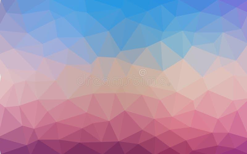 Gładkiego pasthel koloru wektorowy Niski poli- krystaliczny tło wielobok royalty ilustracja