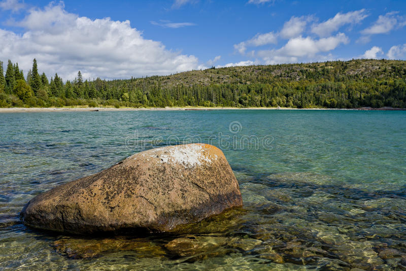 głaz jeziorny północny Ontario zdjęcia royalty free