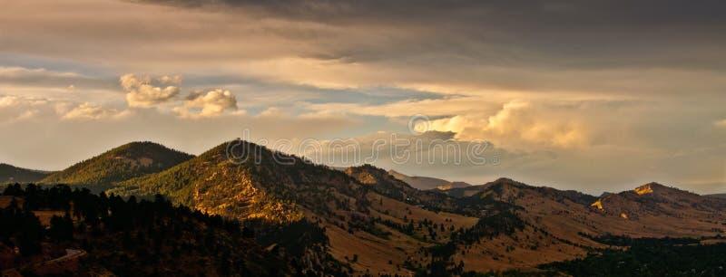 głazu Colorado pasma górskiego zmierzch obrazy stock