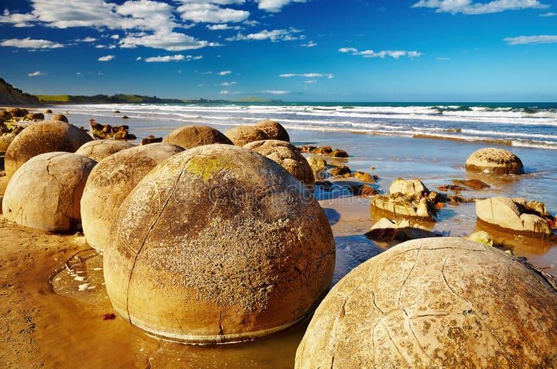 głazu moeraki nowy Zealand obrazy stock
